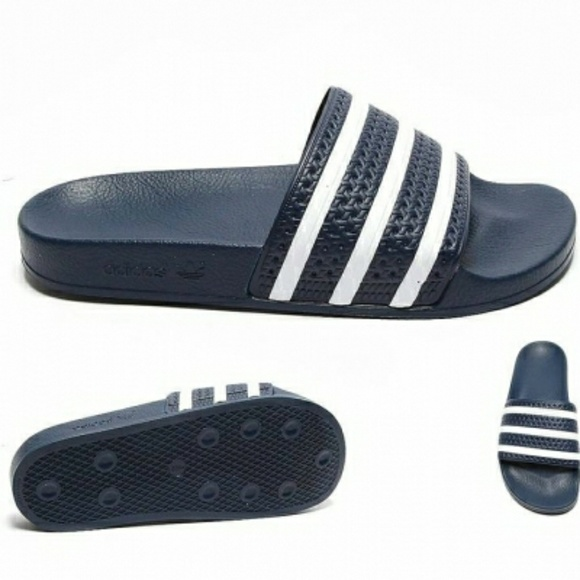 90f518e8fa791a New ADIDAS Adilette Juniors Kids Slides Navy